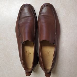 Coach Mens Brown Leather Loafers, Size 10